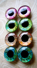 "Handpainted Blythe Eyechips ""Fine Lines"""