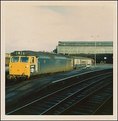 Travels With My Instamatic, One.     1968. (Kingfisher 24) Tags: scotland class50 perthstation instamatic104 d420
