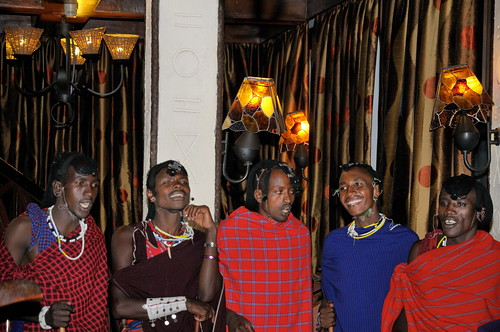 Massai dancers at Serena Lodge at Ngorongoro Crater in Tanzania-11 1-13-12