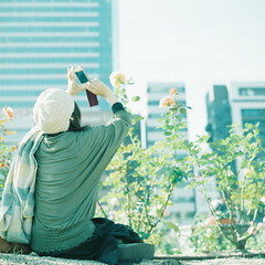 (kajico**) Tags: people 120 film girl square hasselblad freind