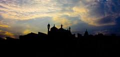 mosque silhouette (Joe Tursi) Tags: india canon river joseph asian asia joe east varanasi ganga ganges 40d