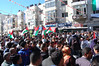 Concentración en Ramalah en apoyo a la iniciativa palestina en la ONU. Crédito: Jillian Kestler-D'Amours/IPS.