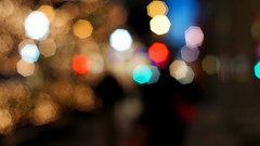 A walk down the mall (variolax) Tags: abstract lights blurry downtown bokeh minneapolis christmaslights 365 project365 365project