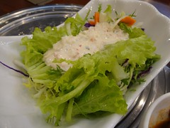 Salad @Hanjibo, Gubei, Shanghai (Phreddie) Tags: china food hot dinner shanghai tofu pot korean appetizers gubei doufu 121128 jjiae hanjibo