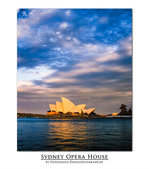 Sydny Opera House at Sunset (daniel.osterkamp) Tags: ocean city travel bridge blue sunset sea summer vacation music house holiday building art tourism water colors beautiful skyline architecture modern night dark gold dawn evening bay harbor concert twilight opera colorful theater cityscape tour view theatre harbour dusk famous performance sydney scenic culture australia landmark icon tourist business entertainment nsw sail operahouse