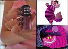 Gato de Cheshire (Paula Bastos .) Tags: cat purple nails gato roxo aliceinwonderland nailart gatodecheshire alicenopasdasmaravilhas gatodaalice