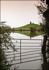 Floods at Burrow Mump 1 (c.richard) Tags: church flood ruin somerset nationaltrust floods burrowmump somersetlevels burrowbridge isleofavalon tutteyate stmichaelsborough