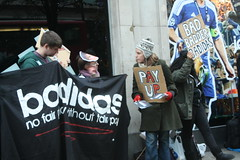 Badidas London (WhistlingAnts) Tags: workers labour adidas sweatshops ptkizone