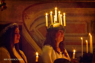 Wearing St. Lucia Crown of Candles