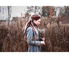 Hole in My Head (StasyBelinskaya1) Tags: park flowers winter people white cold nature girl portraits hair walking photography eos 50mm three colorful portraiture emotional conceptual belarus 550d