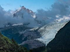 Le glacier des Bossons et l'Aiguille du midi (Tets07) Tags: france nature montagne alpes pentax glacier neige savoie paysage montblanc bossons