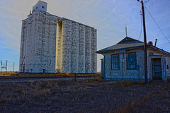 Horace, KS grain elevator & depot. (Wheatking2011) Tags: railroad pacific elevator grain missouri western kansas horace