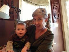 Leo with Linda in Salisbury