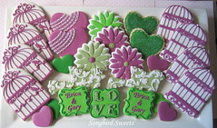 Engagement Party Collection (Songbird Sweets) Tags: flowers hearts engagementparty sugarcookies birdcages songbirdsweets