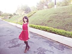 (Nana sk) Tags: red girl fashion japan asian japanese dress ulzzang