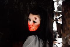 Dead Eyes See All... (amber10_79) Tags: house snow art oregon photoshop dark dead death insane model zombie goth evil manipulation burn horror mad straightjacket cs6 amber1079