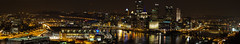 Pittsburgh Panorama (mvos18) Tags: christmas city bridge panorama canon buildings river point lights pittsburgh cityscape nightlights pennsylvania lightroom upmc