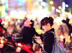 Taipei Streets.  Glenn E Waters.  Explored. 1,400 visits to this photo. (Glenn Waters in Japan.) Tags: street woman beautiful lady night nikon bokeh taiwan explore taipei   d800    explored  nikond800  glennwaters  nikkor85mmf14g taipeilady