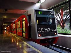 C.N.C.F./Alsthom NM-73B M.0574   El Rosario L-6 (Christian Linarez) Tags: cdmx nm73 nm73b nm73bconcabinacaf elrosario linea6 igbt modernizado stcmetro stc subway metrodf metro