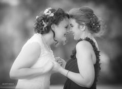 Untitled (Geoff Mock) Tags: maidofhonour blackandwhite bw bride outdoor wedding bokeh happiness portrait nikond610 nikon girls women