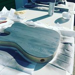 Jets crew: Building some custom guitars for the crew. #whinchstruments