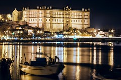 CRW_9843 (Diamantino Dias) Tags: portugal vila do conde rio ave noite gua luz nocturno flores canon espelho