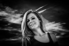 the blue sky portrait art (sonofphotography) Tags: heaven sky cloud sweet beauty portrait happiness street landscape photo art bw amazing wonderful skin woman tsphotoart blur bokeh availablelight