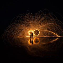 Steel Wool Reflections (Chaos2k) Tags: 52weeks 52weeksthe2016edition steelwool reflection reflections silhouette brianboudreau 2016 canon5dmarkii canon24105l manfrotto 055xprob 488rc2 longexposure lowlight slowshutter summer northbay ontario canada square