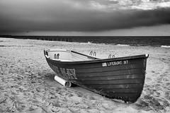 Lifeboat 97 in b&w (paulnadin) Tags: nik silver efex pro