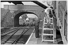 Just a touch more here...(pjs0594) (geoff7918) Tags: hagleystation painters engineers 8767 footbridge1884 29051966
