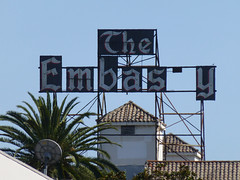 Los Angeles, CA The Embassy scaffold sign (army.arch) Tags: losangeles california ca rooftop roof scaffold sign theembassy embassy