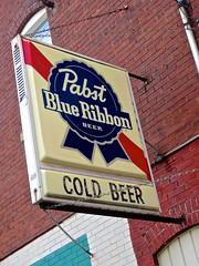 Cold Beer, Moline, IL (Robby Virus) Tags: moline illinois cold beer pabst blue ribbon sign signage bar dive alcohol booze
