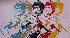 Bruce lee (codedtestament777) Tags: graffiti art beautiful love life design surreal text bright sign painting writing nature crazy weird fabulous environment cartoon animation outdoor street photo border photoborder illustration collection portrait face expression character bruce lee fighter people indoor brucelee karate drawing sketch