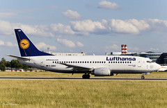 Lufthansa 737-300 D-ABED (birrlad) Tags: prague prg international airport czech republic aircraft aviation airplane airplanes airline airliner airlines airways taxi taxiway takeoff departing departure runway boeing b737 b733 737300 737330 dabed lufthansa germany lh1399 frankfurt