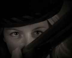 Gun Girl (Digital Zoetrope) Tags: sliderssunday guns shotgun shooting