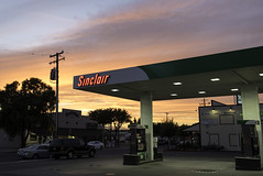 Sunset in Williams California (dcnelson1898) Tags: california williams redbluff centralvalley roadtrip interstate5 outdoors sinclair gasstation