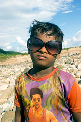 The Boy From Bisnakandi (shovonrahmaney) Tags: boy bisnakandi sylhet goainghat kid blusky sky bangladesh shovon streetchild rahmaney canon