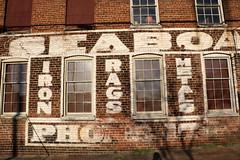 Iron Rags Metals (jschumacher) Tags: virginia petersburg petersburgvirginia seaboardsalvage ghostsign building brickbuilding