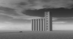The Silo I (Nestor_PS) Tags: silo render car surrealism atavism minimal digital art desert landscape