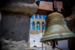 Greece, 2016 (Etienne Gaboreau) Tags: greece patmos sea mediterranean grèce island monastère monastry orthodox orthodoxe religion religious cross bell bells cloche cloches christiannity chétienté christiannisme christian flickrunitedaward canonef2470mmf28lusm