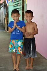 polite boys (the foreign photographer - ) Tags: aug72016nikon polite boys two paying respect wai khlong bang bua portraits bangkhen bangkok thailand nikon d3200