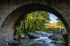 Bridge Over Troubled Water (DanielSan_05) Tags: bridge water salamanca spain bejar sierra flowing silky afternoon rocks