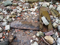 New feature - baseplates (Thames Discovery Programme) Tags: thamesdiscoveryprogramme riverthames cannonstreet london foreshore community archaeology fcy03