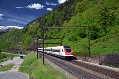 ICN 873 @ Lavorgo (Wesley van Drongelen) Tags: sbb cff ffs schweizerische bundesbahnen chemins de fer fdraux federaux suisses ferrovie federali svizzere swiss federal railways rabde 500 icn intercity neigezug lavorgo biaschina trein train zug treno