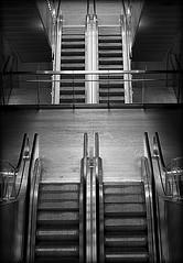 Escalator (gewimmer) Tags: white black copenhagen metro escalator gewimmer ulrichwimmer