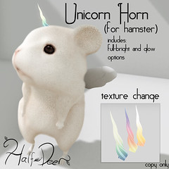 Hunt Prize for Hammie Time Hunt! (Half-Deer (Halogen Magic)) Tags: life cute free sl fantasy secondlife gift kawaii hamster second unicorn hunt freebie freebies gacha gatcha halfdeer