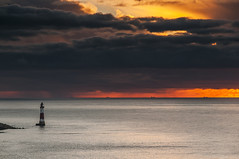 Red Alert (Explored) (simon.anderson) Tags: ocean lighthouse seascape clouds sunrise warning moody dramatic explore beacon beachyhead tankers redalert 1685 explored simonanderson nikond300s lee06ndgrad