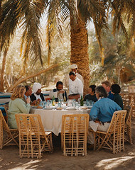 AAHV001233 (albaraagroup2012) Tags: africa travel people male men tourism sahara female table outdoors chair women adult furniture seat group egypt middleeast lifestyle resort meal service recreation humanrelationships seatingfurniture groupofpeople enjoyment diningtable ecotourism northernafrica diningchair caucasianethnicity siwaoasis libyandesert matruhgovernorate adrreamellal