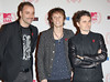 "Musicians Chris Wolstenholme (l-r)Dominic Howard and Matthew Bellamy of ""Muse"" The MTV EMA's 2012 held at Festhalle - arrivals Frankfurt, Germany"