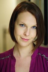 Alison (Andrei SE) Tags: pink blue portrait woman beautiful smile hair eyes nikon 25 short ais 105mm 105mmf25ais d700